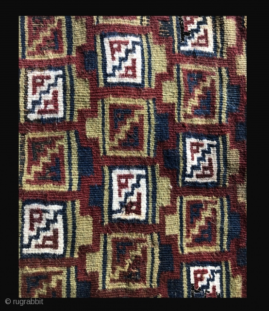 Detail of a pre-Columbian coca bag from the Southern Peruvian Costal Region.  Bags like this are currently referred to as Chuquibamba bags.  They date to the Late Horizon Period and  ...