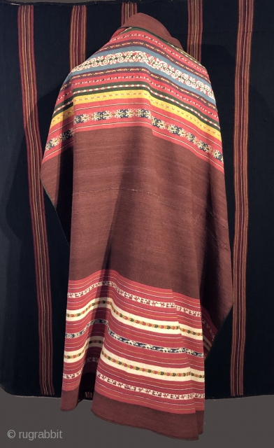 This fine warp faced weaving from the highlands of Bolivia was woven in the first half of the 19th century by Aymara Indians living at 12,500 ft. above sea level on the  ...