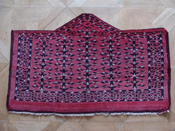Seven sided Yomud asmalyk first half nineteenth century. Turkish knot open left. Wool weft with some cotton in places, goat hair warp.