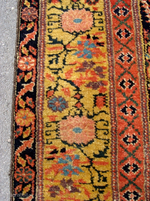 """Fabulous quality Antique North West Persian runner circa 1860. 5m x .95m or 16'3"""" x 3'2"""". The best quality of wool, soft and glossy yet prickly to the touch when brushed against  ..."""