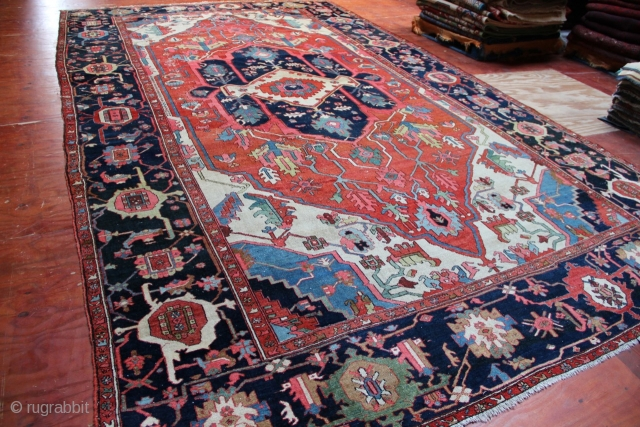 """Superb, massive Serapi carpet, 19th century, approx. 18' x 10'3"""". Please contact for more pictures, condition and pricing information."""