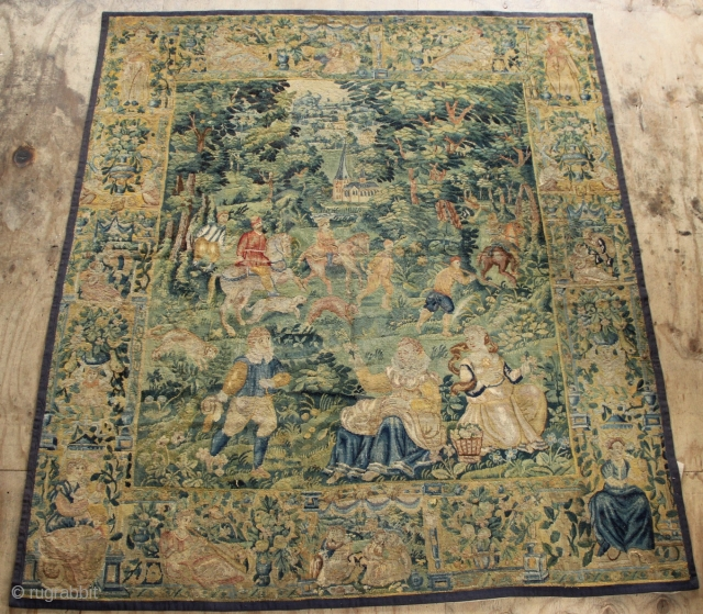 17th Century Game Park Tapestry approximately 9' tall by 8' wide. Beautiful colours, lined and ready to hang, Please contact directly at jamescohen50@hotmail.com for more information, as the rug rabbit link doesn't always  ...
