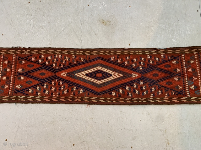 """Complete Antique Yomut Tent band Ca 1880 52'2""""x1'1""""  Shipping cost not included"""
