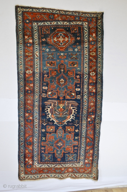 Top piece Antique small Nort west area small rug Heriz area Wool on wool foundation and super all natural colours..