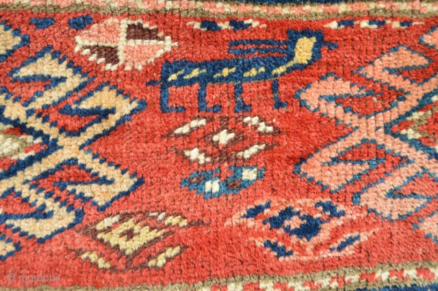 North west , end 19th century piled mafrash panel Shahsavan or kurdish? 106 x 42 cm all natural colors and top qualty meaty wool... more picture available.