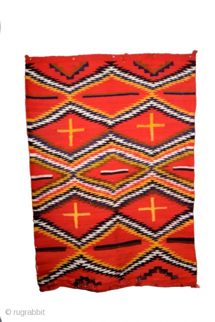 A Old Navajo Eye dazzler rug, size 150 x 110 cm