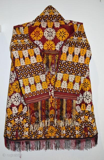 A very fine vintage Turkmenistan wedding cloak