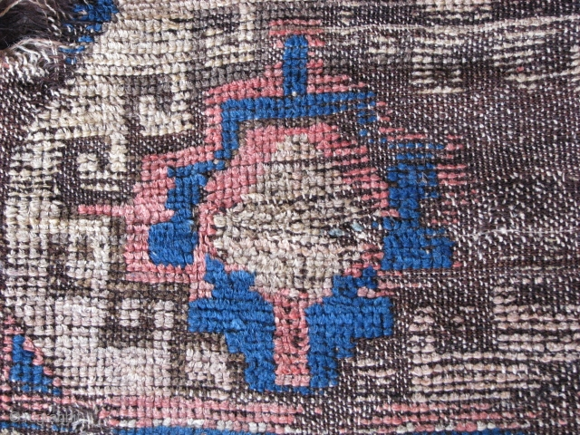 Fragment rug from konya region(central anatolia) weft is hair(goat hair)and the rest wool. late 19th century. Size: 128cm x 97cm - 4.2ft x 3.2ft. To visit my other collections, https://www.etsy.com/your/shops/KILIMSE