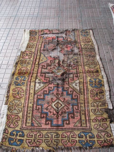 Antique rug fragment from konya region(central anatolia)