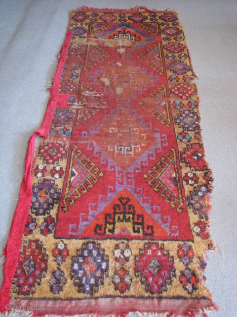 Konya rug, Second half of 19th century size:267cm x 101cm - 8.76ft x 3.31ft. To visit my other collections, https://www.etsy.com/your/shops/KILIMSE