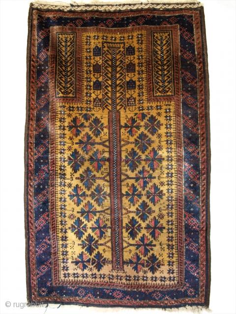 Baluch prayer rug, size: 130 x 80cm. www.knightsantiques.co.uk