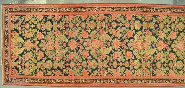 Caucasian Karabagh, c. 1890. 7 x 19 ft (210 x 580 cm), fair condition, some low spots with brown oxidation.