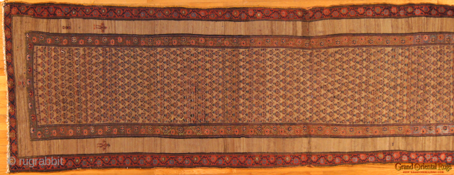 Sarab, c. 1900. 4 x 14 ft (120 x 420 cm), two fold cuts repaired.