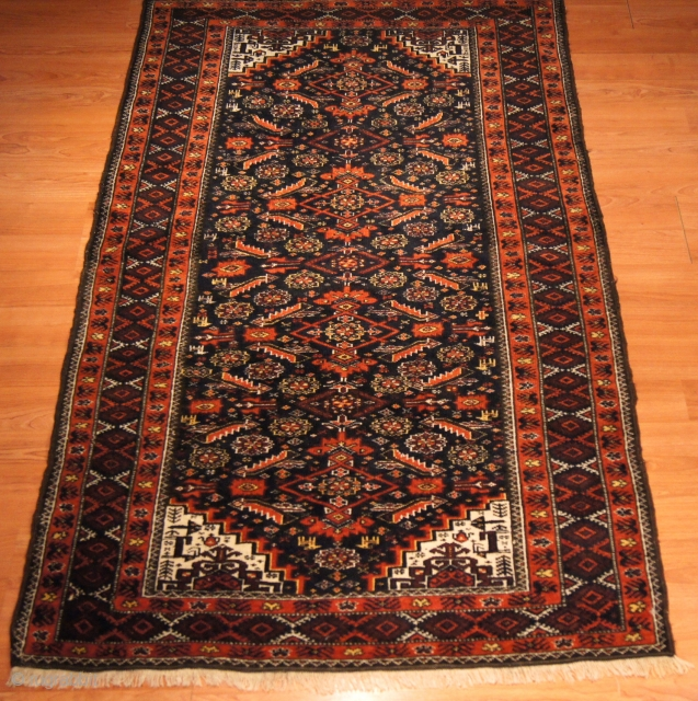 Persian Baluch, c. 1930. 3.5 x 6 ft (105 x 175 cm), mint condition.