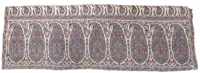 Palledar Fragment of Kani Jamawar, From Kashmir, India. c.1820-1840. Its Size is 45cmx130cm (20200404_152341).