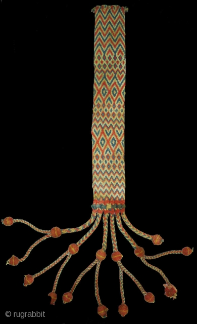 Tung The Camel Decoration Belt From Rajasthan, India.Made of cotton and in Vegetable Colours.Its size is 10cmx90cm(DSC05465 New).