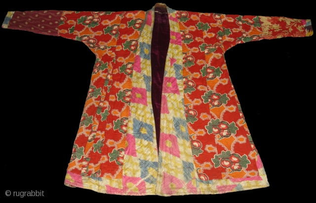 Costume from Uzbekistan,Roller Print on the Cotton and cotton velvet(DSC00443 New).
