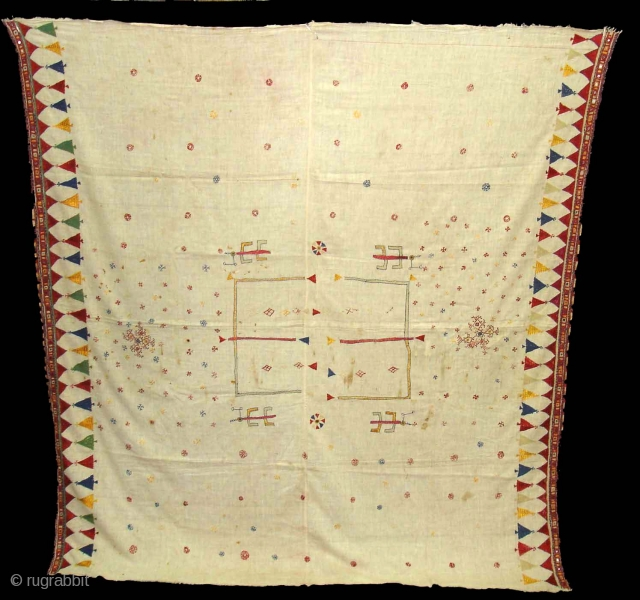 Woman's Shawl(Abochchini),Probably from Sodha Group ,Tharparkar Pakistan.Its size is 170cmX185cm(DSC01451 New).