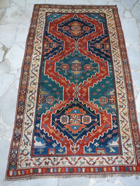 Karabag, very good velvet, good colors, perfect conditions, 215 x 126 Price upon request