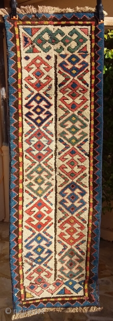 Composition fragment of  Kazak borders, 122 x 38 Price upon request
