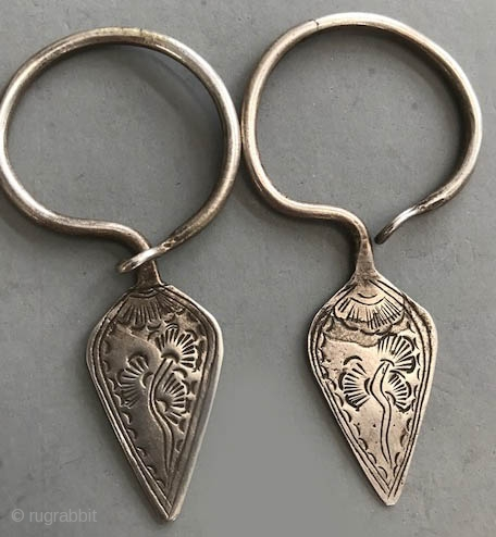 Real vintage silver Miao earrings not fake ones!