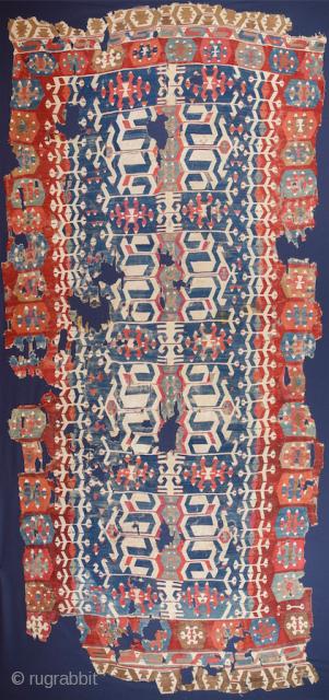 18th Century Manisa Kilim Size 160 x 360 cm