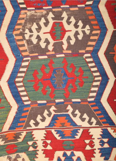 19th Century Anatolian Probably SarıKeci Kilim Size 175 x 325 cm