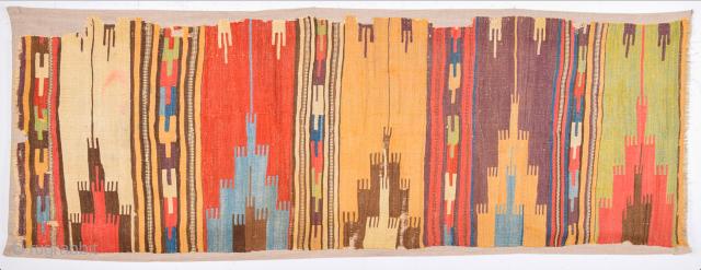 Colorful Early 18th Century Rare Collectible Anatolian Konya Area Safh Kilim Size 72 x 215 cm