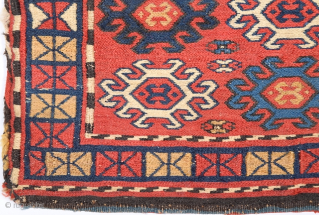 19th Century Small Shahsavan Bag.It's ın good condition and all the colors are naturel.Size 25 x 36