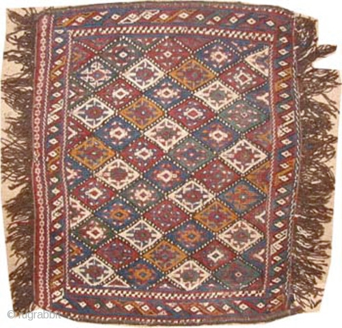 "Persian circa 1905 antique. Collector's item, Size: 52 x 41 (cm) 1' 8"" x 1' 4""  carpet ID: A-220