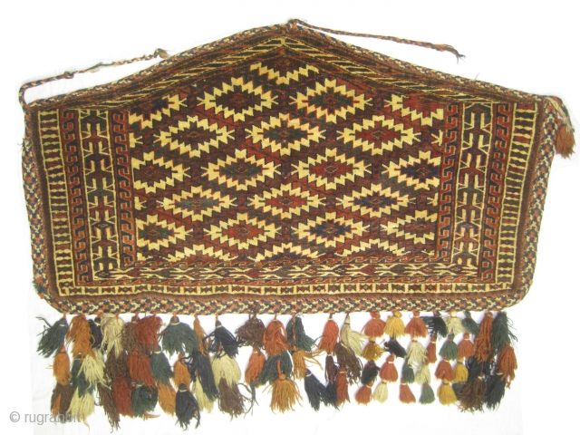"""Yemouth Osmalduk Turkmen circa 1915 antique, collector's item, Size: 113 x 61 (cm) 3' 8"""" x 2'  carpet ID: K-4873 The warp and the weft threads are 100% wool, vegetable dyes,  ..."""