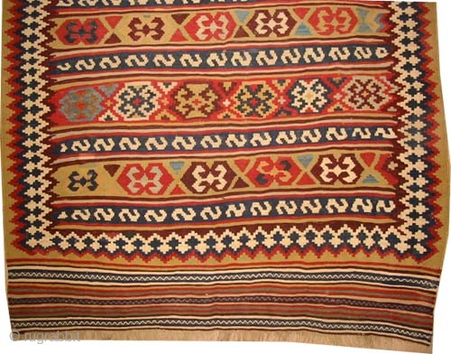 "Qashqai Kilim Persian circa 1905 antique. Collector's item, Size: 331 x 136 (cm) 10' 10"" x 4' 6""  carpet ID: A-842