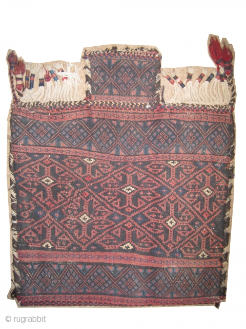 "Namakdar Afshar Persian circa 1910. Salt bag, collector's item, Size: 62 x 52 (cm) 2'  x 1' 8""  carpet ID: SA-1059