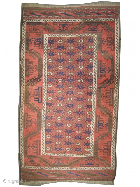 "Belutch Persian circa 1910 antique. Collector's item. Size: 142 x 80 (cm) 4' 8"" x 2' 7"" 