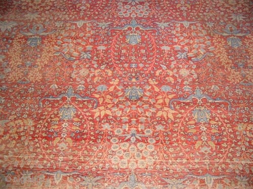 """Hereke Turkish Signed as Hereke, circa 1920 old,  Size: 455 x 300 (cm) 14' 11"""" x 9' 10""""  carpet ID: P-6190  The pile is uniformly short, the knots are hand  ..."""