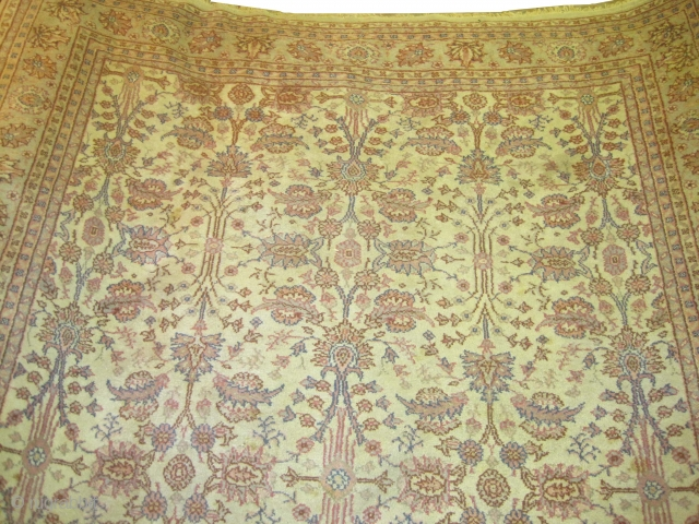 "Ushak Anatolian circa 1915 antique. Size: 354 x 270 (cm) 11' 7"" x 8' 10""  carpet ID: P-2901