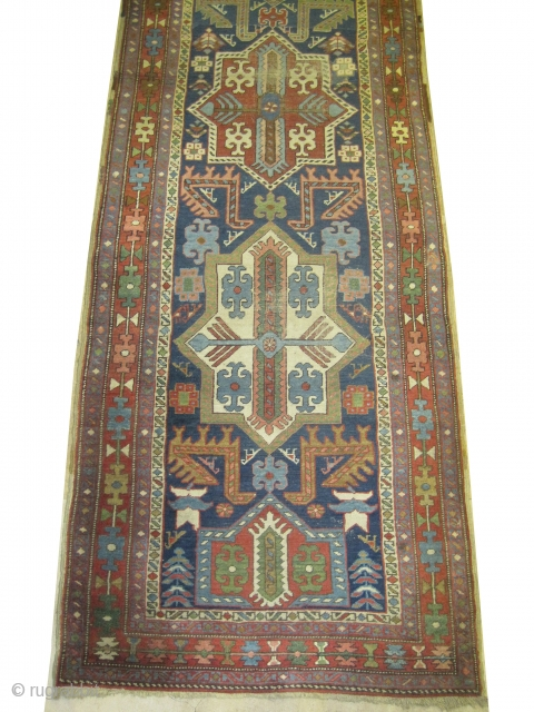 "Heriz Persian circa 1910 antique. Collector's item, Size: 361 x 102 (cm) 11' 10"" x 3' 4""  carpet ID: K-626