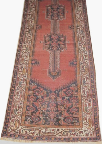 "Farahan Persian circa 1900 antique, Size: 411 x 109 (cm) 13' 6"" x 3' 7""  carpet ID: K-4081