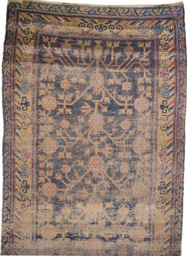 "Khotan Samarkant  antique. Size: 356 x 94 (cm) 11' 8"" x 3' 1""  carpet ID: K-4672