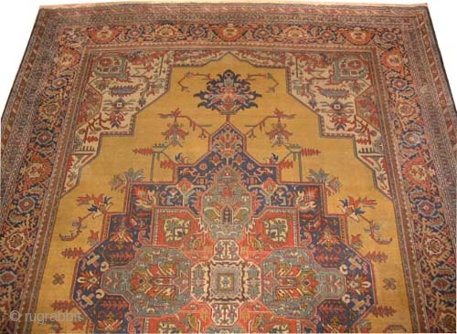 "Tabriz Persian circa 1920 semi antique. Size: 336 x 232 (cm) 11'  x 7' 7""  carpet ID: P-4580