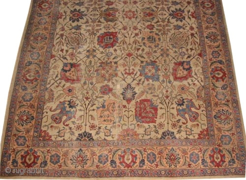 "Tabriz Persian circa 1920 semi antique. Size: 305 x 201 (cm) 10'  x 6' 7""  carpet ID: P-4677