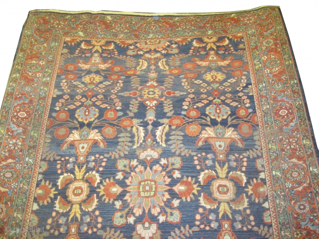 """Mahal Sultanabad Persian circa 1910 antique. Size: 373 x 253 (cm) 12' 3"""" x 8' 4""""  carpet ID: P-1643 Good condition, fine knotted, soft and in its original shape."""