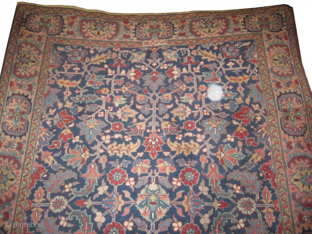 "Beshmeshed Heriz Persian circa 1920 semi antique and signed, Size: 315 x 233 (cm) 10' 4"" x 7' 8""  carpet ID: P-4979