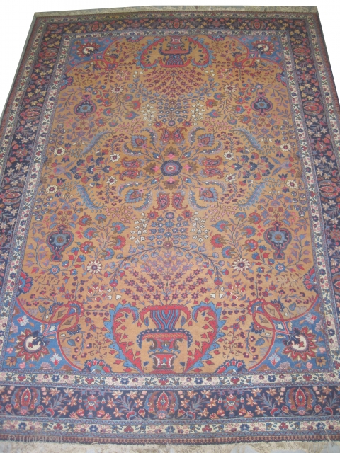 "Tabriz Persian circa 1920 semi antique, Size: 389 x 280 (cm) 12' 9"" x 9' 2""  carpet ID: P-5174