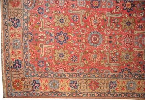 "Tabriz Persian circa 1920 semi antique, Size: 309 x 210 (cm) 10' 2"" x 6' 11""  carpet ID: P-1778 All over design, rare design, uniformly short pile, will serve you another 40  ..."