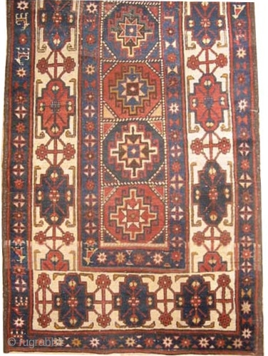 "Shahsavan Persian circa 1910 antique. Collector's item, Size: 307 x 94 (cm) 10' 1"" x 3' 1""  carpet ID: K-3249