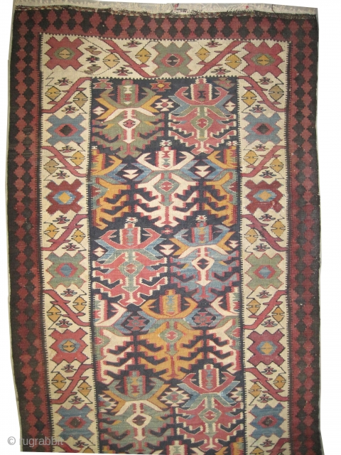 """Caucasian kelim, collector's item, Size: 455 x 105 (cm) 14' 11"""" x 3' 5""""  carpet ID: MMM-50 Very fine woven with hand spun wool, 12 colors used, good condition, unique and single  ..."""
