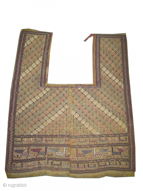 "Horse cover Vernneh Caucasian circa 1895 antique. Collector's item, Size: 186 x 158 (cm) 6' 1"" x 5' 2""  carpet ID: A-217