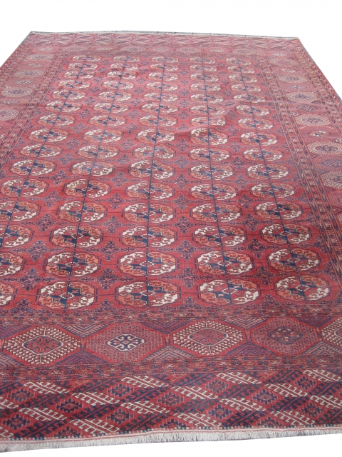 Tekke Boukhara Turkmen circa 1920, old, 255 x 370 cm, carpet ID: BS-1
