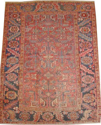 """Heriz Persian old, Size: 232 x 175 (cm) 7' 7"""" x 5' 9""""  carpet ID: P-1472 High pile, good condition, the quality is like a Bidjar carpet, rare size and in its  ..."""
